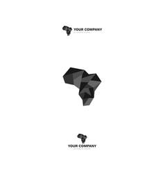 Custom logo design for african geometric vector