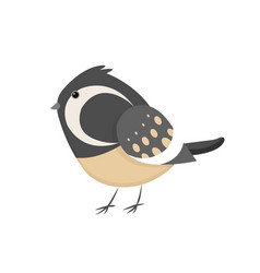 Cute little colorful bird isolated on white vector