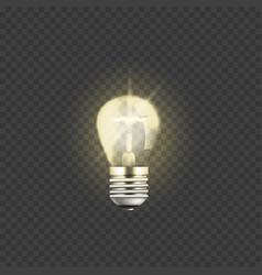 electric light bulb 3d vector image