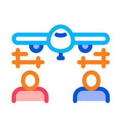 engineering plane icon outline vector image