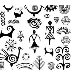 Etnic elements vector