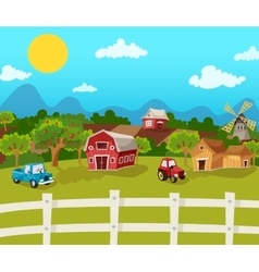 Farm Cartoon Background vector