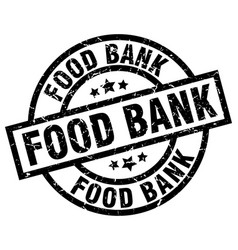 Food bank round grunge black stamp vector
