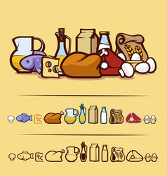 foodstuffs vector image