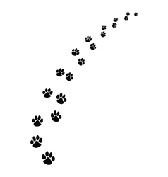 footprints dogs 2 vector image