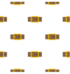 Gold square buckle pattern flat vector