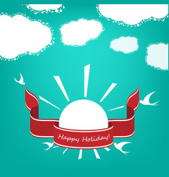holiday banner vector image vector image