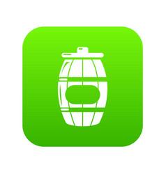 honey barrel icon green vector image
