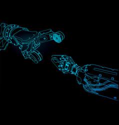 Industrial robotics manipulators vector