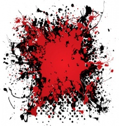 ink blood splat vector image vector image