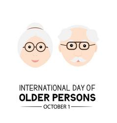International day older persons banner easy vector