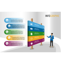 isomatic banner style infographics layout vector image