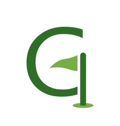 Letter G and golf logo or icon design template vector