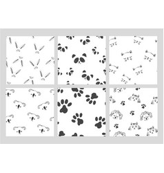 line art graphic black and white animals head vector image