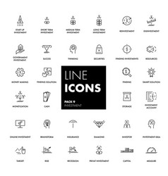 Line icons set investment vector