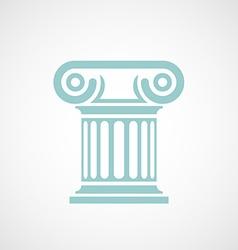 Logo marble columns vector image