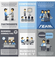 Meeting Poster Set vector