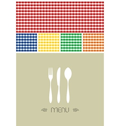 Menu design for restaurant or coffee shop vector image