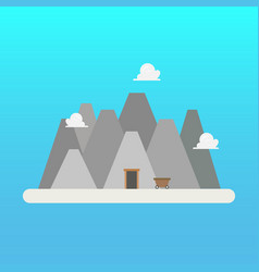 mine in flat style vector image