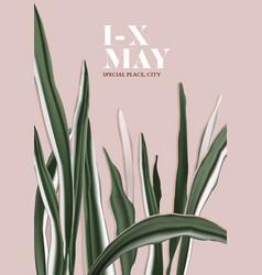 minimalist botanical card greenery card template vector image