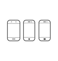 mobile or cell phone outline simple icon vector image