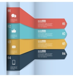 Modern paper infographics in flat design with vector image