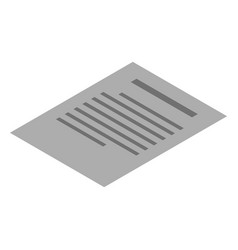 office doc paper icon isometric style vector image