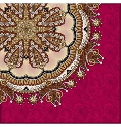 Pattern in ukrainian oriental ethnic style vector