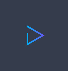 play icon abstract blue gradient line triangle vector image
