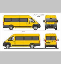 Ram promaster passenger van l4h2 2018 vector