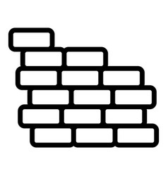 Reconstruction brick wall icon outline style vector