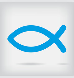 religion fish icon with shadow vector image