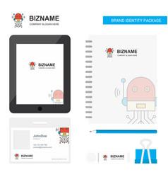 robotics business logo tab app diary pvc employee vector image