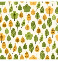 Seamless background with leaves leaf fall vector