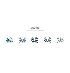 Seaweed icon in different style two colored vector