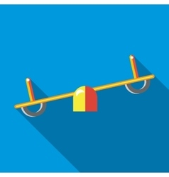 Seesaw icon in flat style vector