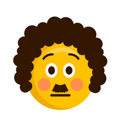 serious retro emoji icon vector image