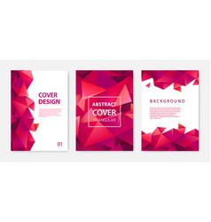set modern cover design templates vector image