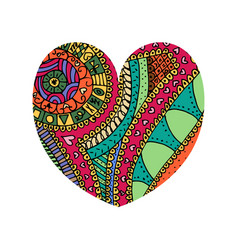 shape of heart tangle pattern vector image