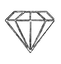 Single diamond icon image vector