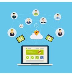Social network and teamwork vector image