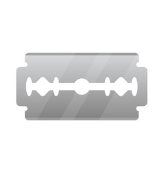 stainless steel razor blade isolated over white vector image