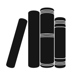 Standing books icon in black style isolated on vector
