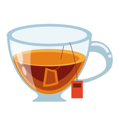 Tea drink cup vector