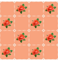 texture with roses vector image