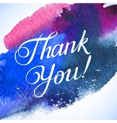 THANK YOU hand lettering custom handmade vector image