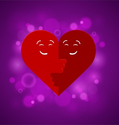 the two halves heart vector image