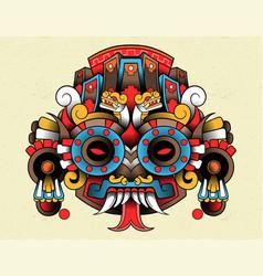 Tlaloc red aztec vector