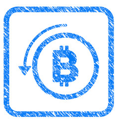 Undo bitcoin payment framed stamp vector