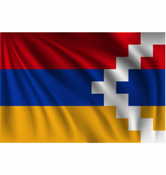 Waving nagorno-karabakh republic vector